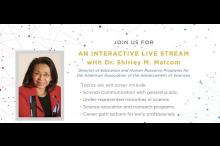 Live Q&A with Dr. Shirley Malcom